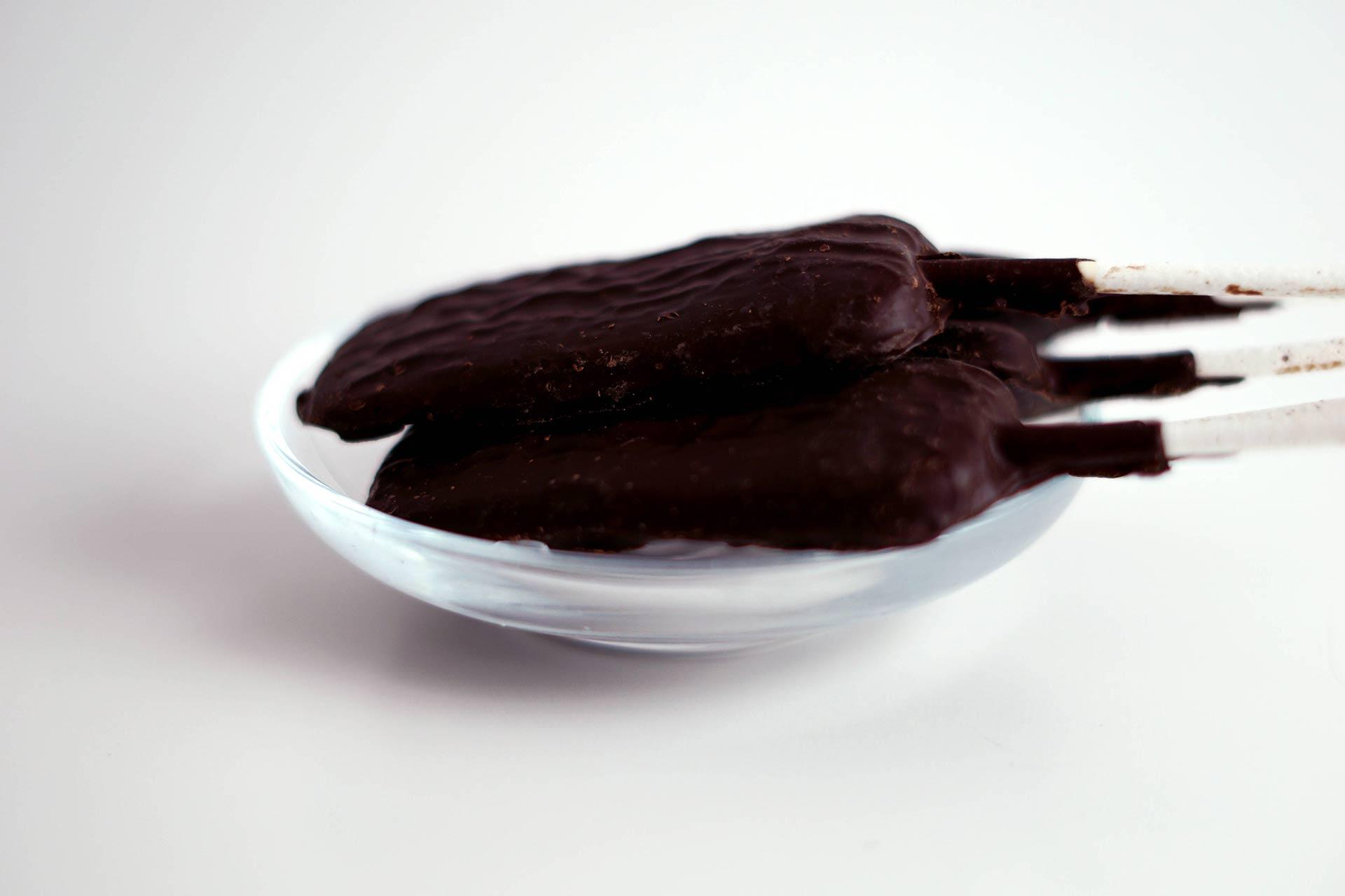 Schoko-Salmi Lolly